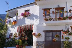 typische Häuser in einem typischen weißen Dorf der Alpujarras