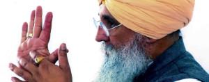 Guru Dev Singhs Gesicht im Profil